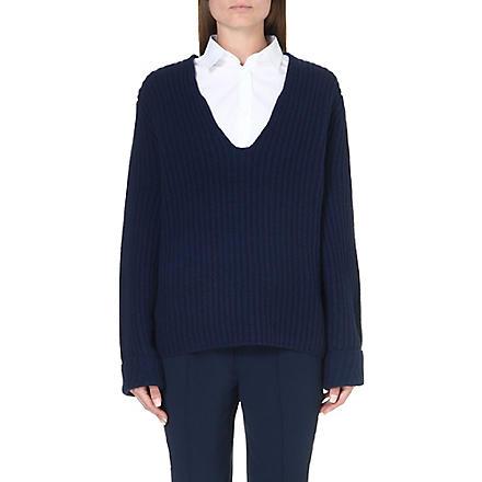 ACNE Deborah wool jumper (Navy