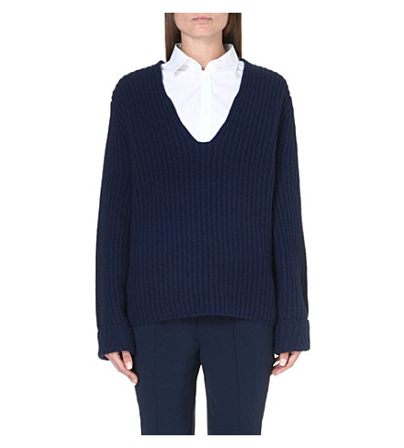 ACNE Deborah wool jumper (Navy