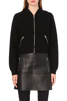 ACNE Olympia boiled-wool bomber jacket