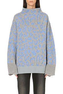 ACNE Mist jacquard-knit jumper