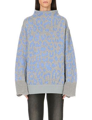 ACNE Mist jacquard-knit jumper