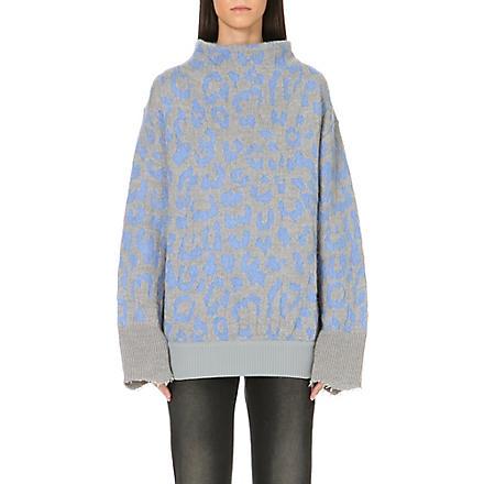 ACNE Mist jacquard-knit jumper (Blue