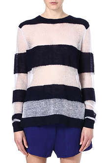 ACNE Sheer and stripe mohair jumper