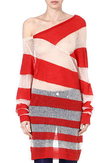 ACNE Striped mohair-blend jumper