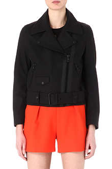 ACNE Mape matte-leather biker jacket