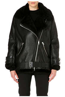 ACNE Oversized leather jacket