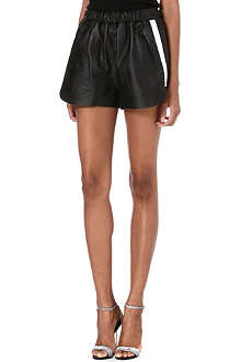 ACNE Maia leather shorts
