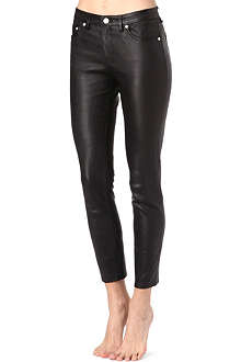 ACNE Skin 5 skinny mid-rise leather jeans