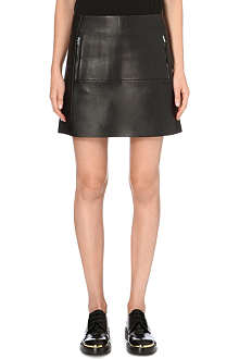 ACNE High-waisted leather skirt