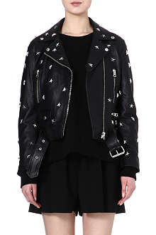 ACNE Star stud leather biker jacket