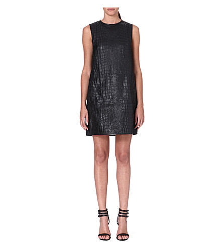 ACNE Sleeveless leather shell dress (Black