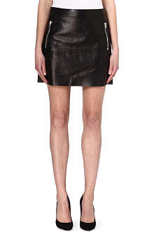 ACNE Leather mini skirt