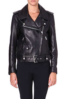 ACNE Mape leather biker jacket