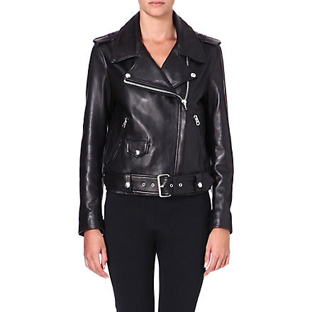 ACNE Mape leather biker jacket (Black