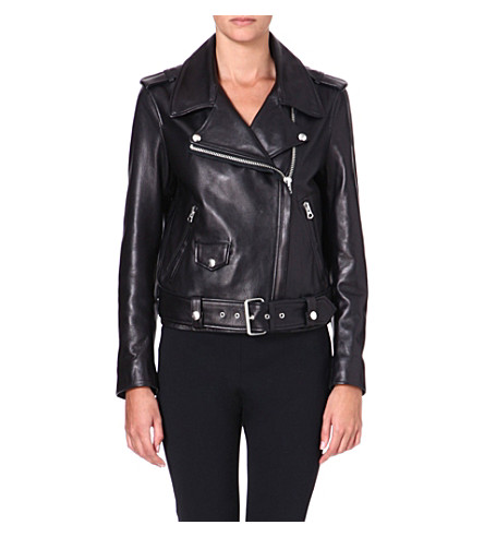 ACNE Mape leather biker jacket (Black