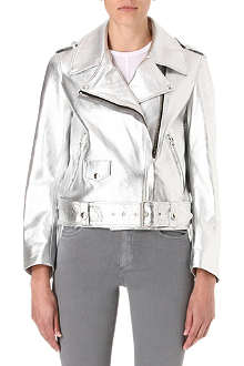 ACNE Mape metallic-leather biker jacket