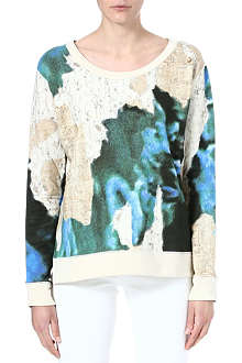 ACNE Angle wallpaper printed sweatshirt