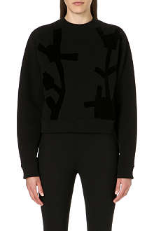 ACNE Abstract bird-print sweatshirt
