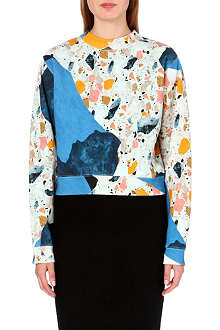 ACNE Bird light terrazzo-print sweatshirt