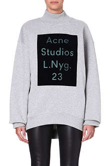 ACNE Branded high-neck sweatshirt
