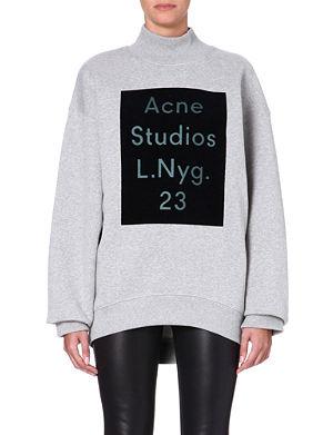 ACNE Branded high-neck sweatshirt