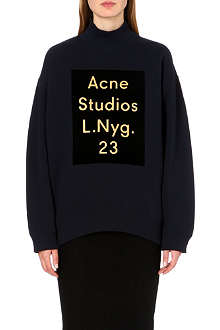 ACNE Beta flock-print sweatshirt