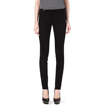 ACNE Needle skinny high-rise jeans (Black