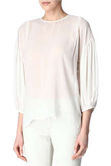 ACNE Abbie silk blouse