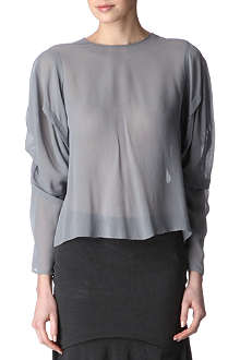 ACNE Ava silk top
