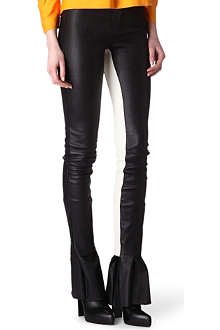 ACNE Best Jockey leather trousers