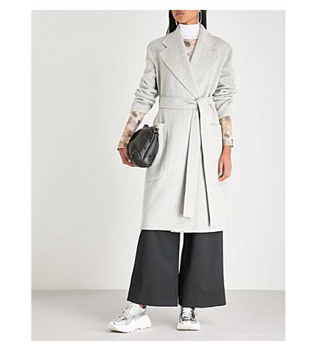 ACNE STUDIOS Carice wool and cashmere blend wrap coat (Grey+melange