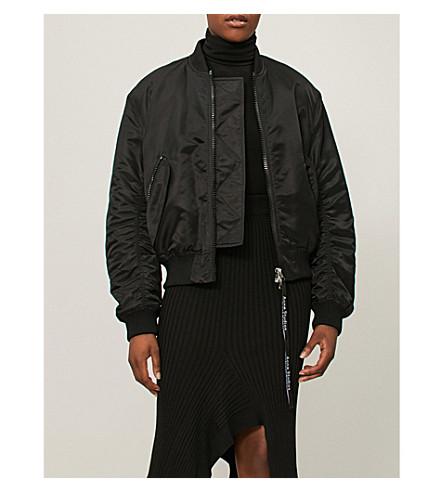 ACNE STUDIOS 徽标拉链软壳面料飞行员夹克 (黑色