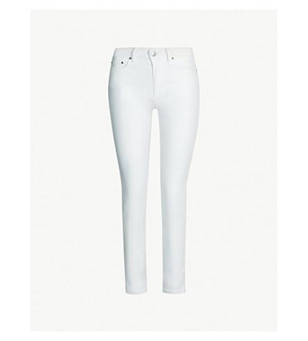 ACNE STUDIOS 攀登中腰紧身牛仔裤 (白色