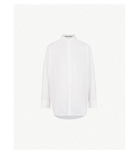 ACNE STUDIOS Oversized cotton-poplin shirt (White