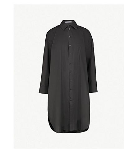 ACNE STUDIOS Oversized cotton-poplin shirt dress (Black