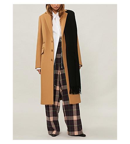ACNE STUDIOS 软垫肩羊毛混纺大衣 (骆驼 + 棕色