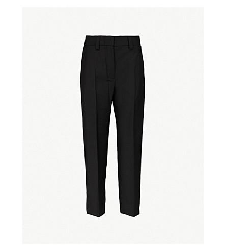 ACNE STUDIOS 精裁版型羊毛和马海毛混合裤子 (黑色