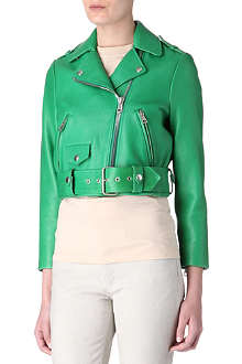 ACNE Mape Petite cropped leather biker jacket