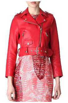 ACNE Mape Petit cropped leather biker jacket