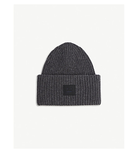 PANSY FACE KNITTED WOOL BEANIE