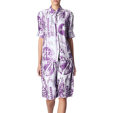 ACNE Patia currency-print shirt (Lavender
