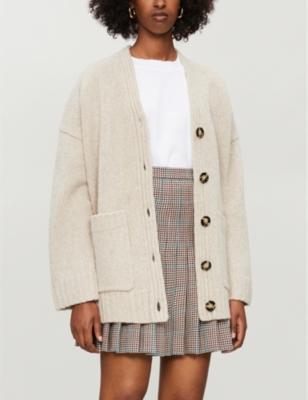 Kanita V-neck wool-blend cardigan