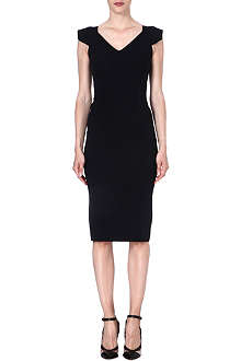 ROLAND MOURET Atria stretch-crepe dress