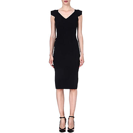 ROLAND MOURET Atria stretch-crepe dress (Black