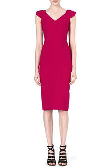 ROLAND MOURET Atria cap-sleeve dress