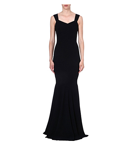 ROLAND MOURET Orpheus pleated gown (Black