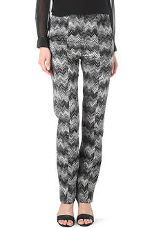 MISSONI Sparkle zigzag trousers