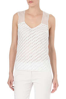 MISSONI Embroidered sheer top