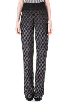 MISSONI Geometric lurex trousers
