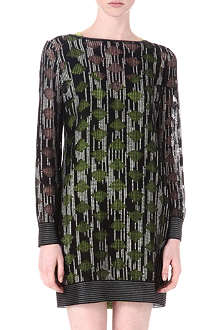 MISSONI Open back wool-blend dress